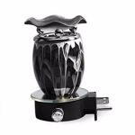 Electric Plug-In Oil Burners {Black Smoked Shaped}
